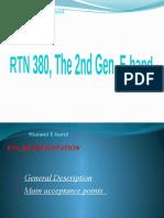 E- band RTN 380 MW acceptance presentation
