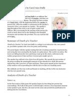 15. Death of a Teacher