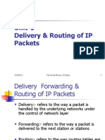 Delivery & Routing IP packets