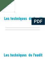 LES TECHNIQUES DE L_AUDIT