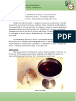 INFORMATION SHEET 3.1-2 FOOD, RELIGION, AND CULTURE