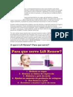 Lift Renew - Lift Renew Funciona? Lift Renew Bula,Formula e Onde Comprar Lift Renew
