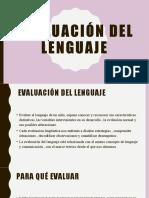 Evaluación del lenguaje [Autoguardado]
