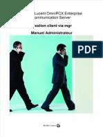 Alcatel-Lucent OmniPCX Gestion client via mgrManuel Administrateur
