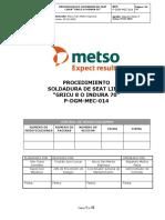 P-DGM-MEC-014 Proc. Soldadura Seat Liner Gricu 8 o indura 70