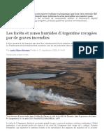 Les encendies en Argentine