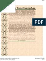 Celtic Tree Calendar - Ogham Alphabet