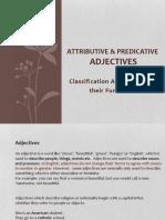 attributive  predicative adjectives