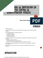 Bases de la imputación delitos contra la administración pública-Max Vengoa