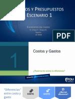 Costos y presupuestos - Escenario 1; Elementos del costo-1.pdf