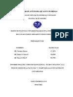 MONOGRAFICO DISEÑO DE POLITICAS CONTABLES  BASADAS  EN LAS NIIF PYMES 2014