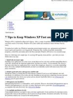 7 Tips to Keep Windows XP F..