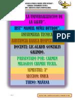 POSICIONES TERAPEUTICAS DE UN PACIENTE HOSPITALIZADO