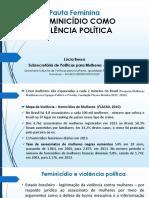 LUCIA BESSAPauta Feminina Feminicidio como violencia politica