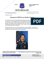 11.28.20 Statement of MPD Sworn Member Passing
