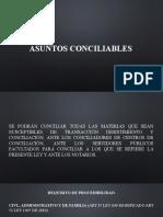ASUNTOS CONCILIABLES