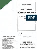 Barbarin Georges - Dieu est-il mathématicien.pdf