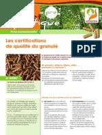 Fiche Propellet Pro 1 Certifications