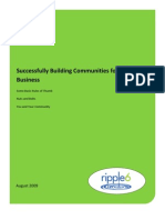 White Paper How Businesses Use Social Media and Communities