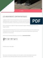 Les mouvements contrapuntiques – Ecriture Musicale
