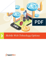 SapientNitro Mobile Web Technology Options