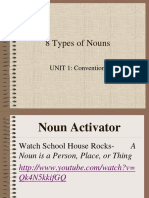 8 types of nouns answered