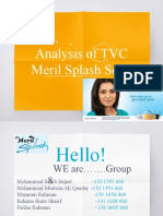 Analysis of TVC Meril Splash Soap