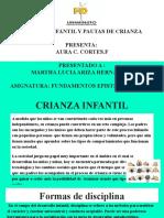 CRIANZA INFANTIL Y PAUTAS DE CRIANZA PRESENTA_  AURA C. CORTES.F PRESENTADO A _ MARTHA LUCIA ARIZA HERNANDEZ ASIGNATURA_ FUNDAMENTOS EPISTEMOLÓGICOS