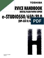 SERVICE HANDBOOK e-studio 550-650-810