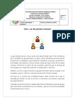 GUIA # 1 LAS RELACIONES SOCIALES- COMPETENCIAS CIUDADANAS