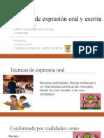 tecnicas de expesion oral y escrita