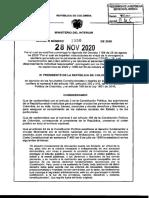 DECRETO 1550 Nov 28 2020 PRORROGA Emergencia Sanitaria