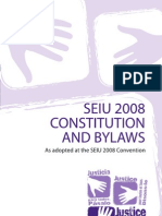 (SEIU) Constitution and Bylaws