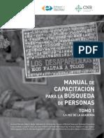 Manual de Capacitación Para La Búsqueda de Personas, Tomo I_2020