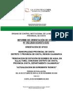 Informe de Orientacion de Oficio Nº 052-2020-OCI373-SOO