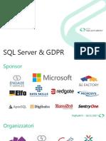 SQL Server and GDPR