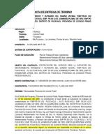 """ACTA ENTREGA DE TERRENO """"LAS MALVINAS - VISTA ALEGRE"""""""