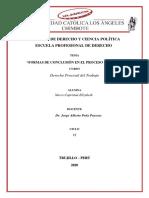FORMAS DE CONCLUSION EN EL PROCESO LABORAL