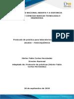 Protocolo de Práctica de Laboratorio de Fisicoquímica