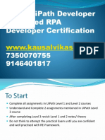 UiPath-Advance-certification-Tips