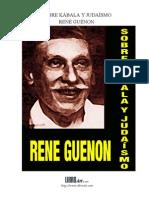 Guenon, Rene - Sobre Kabala y Judaismo