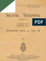 Telephone set D Mk III - 1926 (STV3 P1)