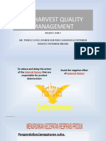 Kuliah 6 POSHARVEST QUALITY MANAGEMENT