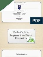 Evolución de la Responsabilidad Social Corporativa