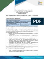 Guia de actividades y Rúbrica de evaluación - Unidad 1 - Tarea 1 - Funciones