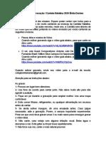Roteiro de Gravação Cantata Natalina Erida Duraes 2020 Fundamental 1