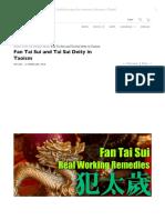Fan Tai Sui and Tai Sui Deity in Taoism - Taoist Magic - Tin Yat Dragon