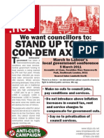 We want councillors to stand up to the Con-Dem Axemen - NSSN Anti-Cuts Campaign leaflet