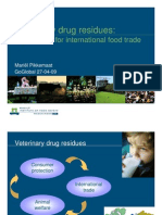 Trade Implications Vet Drug Residues