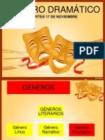 GÉNERO DRAMÁTICO MARTES 17 DE NOV.